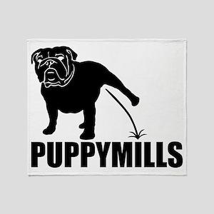 BULLDOG [pee on] PUPPYMILLS Throw Blanket